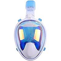 rysw Snorkeling máscara Completa Vista Completa área Seca 120o-180o diseño físico Anti-vaho y diseño a Prueba de Fugas
