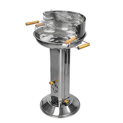 DEMA Säulengrill im Edelstahl Design