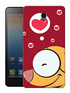 "Humor Gang Dog In Red Heart Printed Designer Mobile Back Cover For ""Lenovo S860"" (3D, Matte Finish, Premium Quality, Protective Snap On Slim Hard Phone Case, Multi Color)"