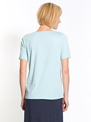 Charmance - Tee-shirt brodé, manches court Bleu
