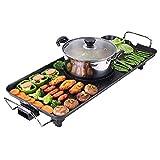 Barbecue elettrico domestico senza forno Coreano Multi-purpose Barbecue Hot Pot teglia, antiaderente Pan 5 Regolazione della temperatura