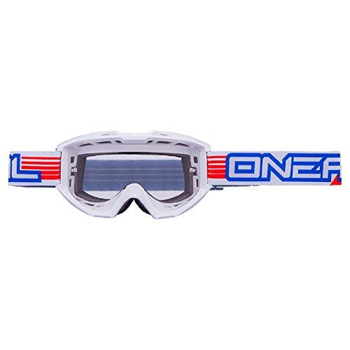 O'Neal B1 RL MX Goggle Matt Weiß Cross Brille Motorrad Enduro Motocross DH MTB MX Quad, 6023-902