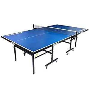 Donnay Indoor Outdoor Table Tennis Table Blue Full Size Folding Ping Pong Review 2018 by Donnay