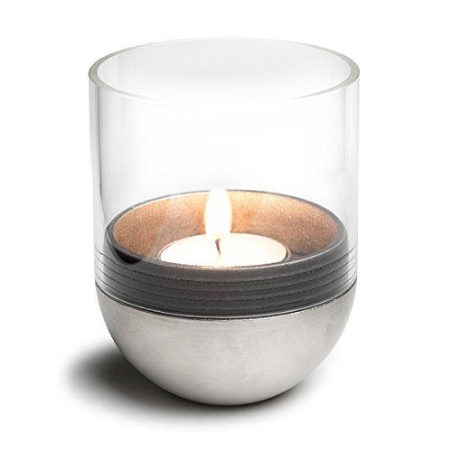 höfats - GRAVITY CANDLE M60 - Windlicht und Teelichthalter - hält Kerze waagerecht - bequemes Anzünden und Erlöschen