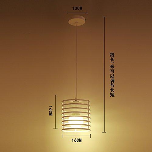 Luckyfree Kreative Modern Fashion Anhänger Leuchten Deckenleuchte Kronleuchter Schlafzimmer Wohnzimmer Küche, den weißen Zylinder Heizung 9 Watt-LED -