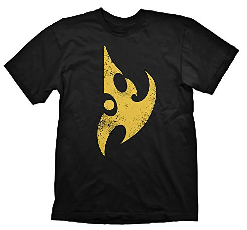 Gaya Entertainment Starcraft 2 T-Shirt Protoss Logo Yellow Vintage, S