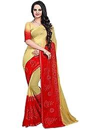 8b1023c8dc74ae Craftsvilla Chiffon Saree With Blouse Piece (Mcraf91499576550_Red_Free Size)
