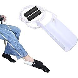 Bestbuy Chaussettes pour hommes âgés Dressing Equipment, Les femmes enceintes évitent de plier les chaussettes de taille Équipement de pansement Outil de dressage de chaussettes pour hommes handicapés