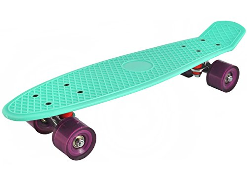 Longboard Retro Skateboard Skate Board mini Crusier ABEC-7 #3017, Farbe:Minze