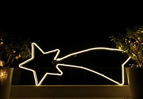 Weihnachtsdeko Fenster LED Sternschnuppe Fensterbilder Weihnachten Beleuchtet Fensterdeko Hängend Fensterdekoration mit Licht Fensterbeleuchtung (WW1)