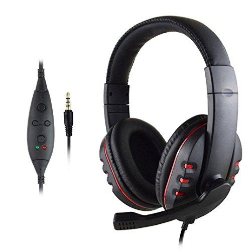 Wokee Neue USB verdrahtete Stereo Micphone Gaming Kopfhörer für Sony PS3 PS4 PC,Kabelloser On-Ear Bluetooth Kopfhörer mit Integrierter Musiksteuerung und Mikrofon Kompatibel mit für PS4, PC, Handy