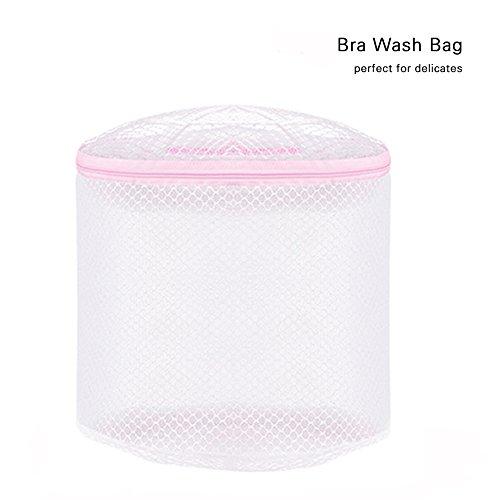 Jumbo-netz Strümpfe (zantec Waschen Trocknen Bag Travel Organizer mit Waschen Wäschesack Reißverschluss weiß robustem Netzstoff für BH und Dessous Schutz)