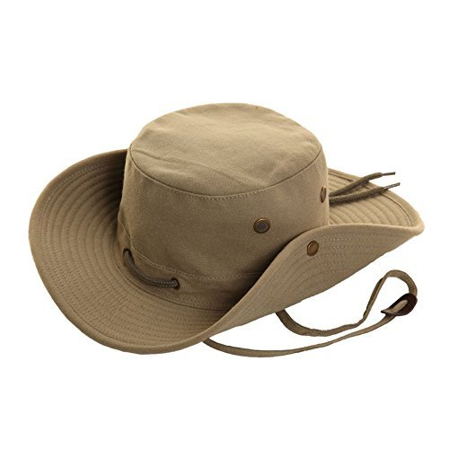 Felton Australischer Outback-Hut, 100% Baumwolle, breite Krempe - 58 cm (M) - Grün (Baumwolle Hut Aussie)
