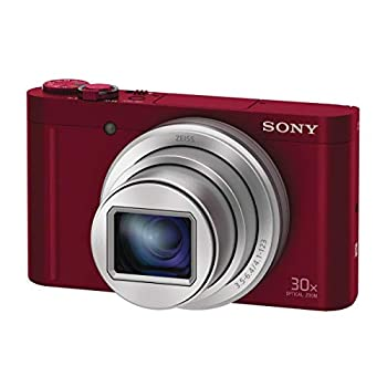 Sony DSCWX500R.CEH Digital Compact High Zoom Travel Camera with 180 Degrees Tiltable LCD Screen - inc 16GB Memory Card and Case kit (18.2 MP, 30 x Optical Zoom, Wi-Fi, NFC) - Red WX500