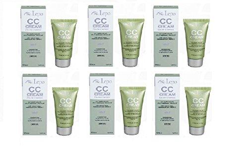 lepo-cc-cream-6-paquetes-de-30-ml-n2-beige-ambrato-idrata-protege-dagli-uv-y-copre-le-acne
