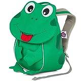 Affenzahn Kinderrucksack mit Brustgurt Finn Frosch für 1-3 Jährige Jungen und Mädchen im Kindergarten oder Kita - Grün