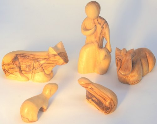 Presepi Di Legno Betlemme : Statuine stile moderno altezza cm u set di presepe in
