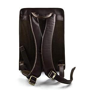 41sehjgYvSL. SS300  - Mochila de cuero marron oscuro bolso de hombre piel mochila grande duro de piel bolso de espalda bolso bandolera de…