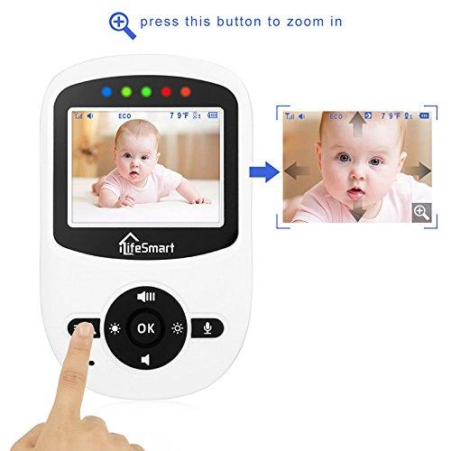 iLifeSmart SM24 Video Baby Monitor 2.4 Inch Babyphone mit Nachtsicht Temperaturüberwachung und Timer-Einstellung Funktionen Drahtlos Digital Kamera - 3