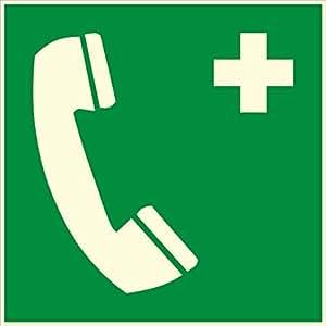 novap–Panneau–Telephone grün–Dunkeln Leuchten–200x 200mm Hartschale–Dunkeln Leuchten