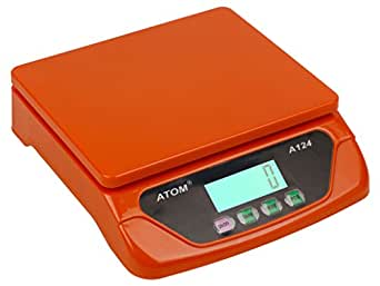 Atom Battery and Electricity Operated Digital Kitchen Weighing Scale, 25kg (Adapter Not Included)