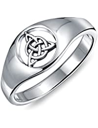 Bling Jewelry Argent Sterling Ouvrir Celtic Triquetra Nœud Sonnerie