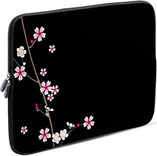 Sidorenko Laptop Tasche für 17-17,3 Zoll | Universal Notebooktasche Schutzhülle | Laptoptasche aus Neopren, PC Computer Hülle Sleeve Case Etui, Schwarz