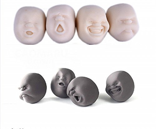 xjoel-4pcs-set-vent-human-face-ball-anti-stress-ball-japanese-design-cao-maru-caomaru-white