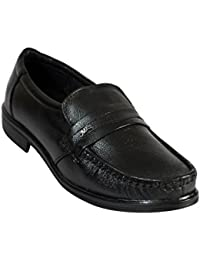 Fashion Tree Genuine Leather Slip On Shoes For Men Black Color 001Blk