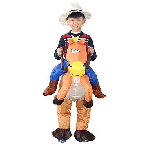 FTVOGUE Festival Feier Partei Kleidung aufblasbares Reiten Karikatur Kostüm für Kinder (ohne Batterie)