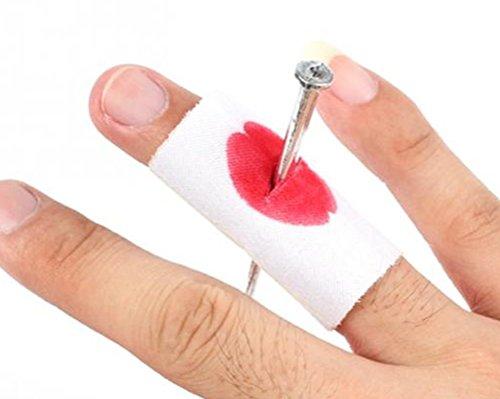 EROSPA® Unfall-Wunde Finger-Nagel Blut Pflaster Verletzung Kostüm Accessoires Halloween Karneval Fasching Party Trick (Männer Kostüme Rio Karneval)