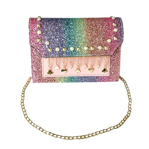 TENDYCOCO Umhängetasche Mini Sequins Chain Bag Square Schultertasche für Frauen