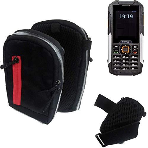 K-S-Trade Outdoor Gürteltasche Umhängetasche für Cyrus cm 16 schwarz Handytasche Case travelbag Schutzhülle Handyhülle