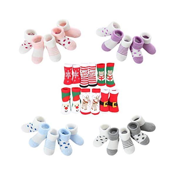 DEBAIJIA Calcetines de Algodón para Bebé 0-7 Años Suaves Cómodos Niños Niñas Calcetines Respirable Primavera Verano… 6