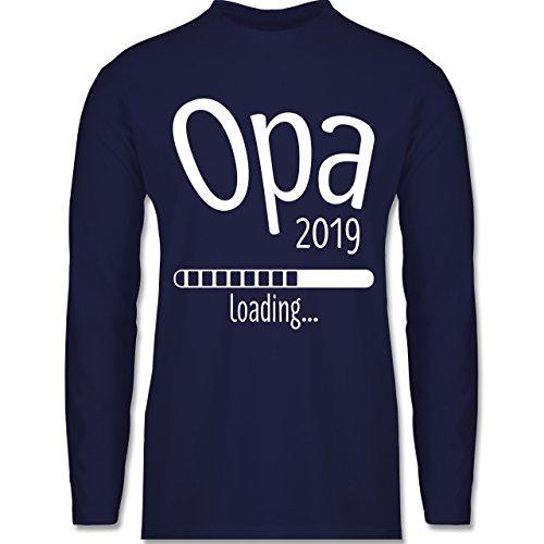 Shirtracer Opa - Opa 2019 Loading - Herren Langarmshirt Navy Blau