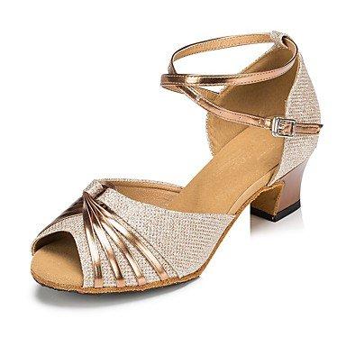 Donna Banchetto Latino Stanza Ballo Scarpe d'oro