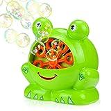 Tatuer Seifenblasenmaschine, Tragbare Bubble Maschine, Kinder Garten Spielzeug, Seifenblasen Maschine für Kinder, Perfekt für Weihnachten, Partys und Hochzeiten