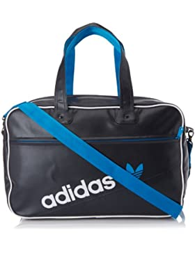 adidas Holdball Perforated F79530 - Bolsa de deporte (tamaño 49 x 17 x 31 cm), color negro/blanco/azul