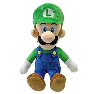 Super Mario Stofftier / Plüsch Figur: Luigi 38 cm (Größe M, San-Ei) 38 cm
