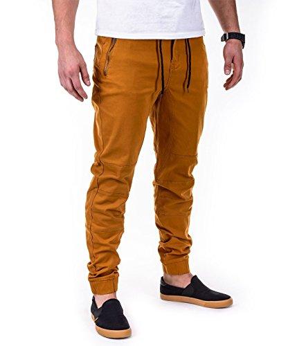 Betterstylz NashvilleBZ Zip Chino Jogger Pantalon Chino Èlégant Homme 5 couleurs (S-XXL) Camel