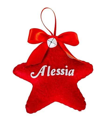 Stelline di Natale personalizzate Creamando idea regalo regali personalizzati natale originali stella natalizie decorazioni stelline di natale stella di natale con nome stelline per albero di natale