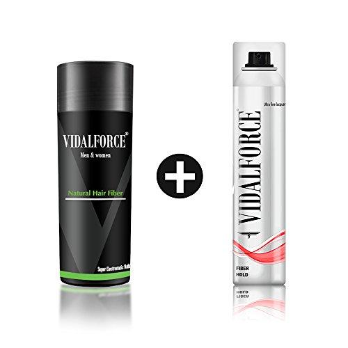 VidalForce Fijador + Fibra Capilar color Negro con 25 g.