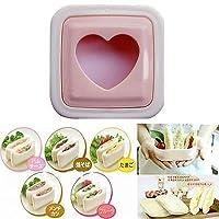 Shopo's Heart Hearted Shape Sandwich Bread Toast Maker Mould Cutter DIY Tool