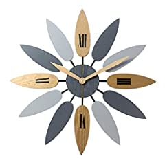 Idea Regalo - OviTop 52cm Orologio da Parete Orologio da Muro Silenzioso Industriale Decorativi Design Gigante Orologio da Muro per Cucina, Camera da Letto o Studio-Come Mostrato