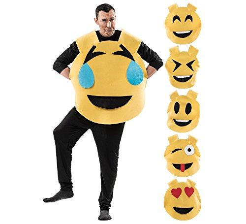 Imagen de disfraz de emoticono 6 en 1 para adultos