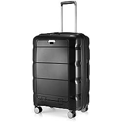 HAUPTSTADTKOFFER - Britz - Valise de Taille Moyenne Bagages Rigide, Polypropylène, Extra léger, 66 cm, 60 L, Noir