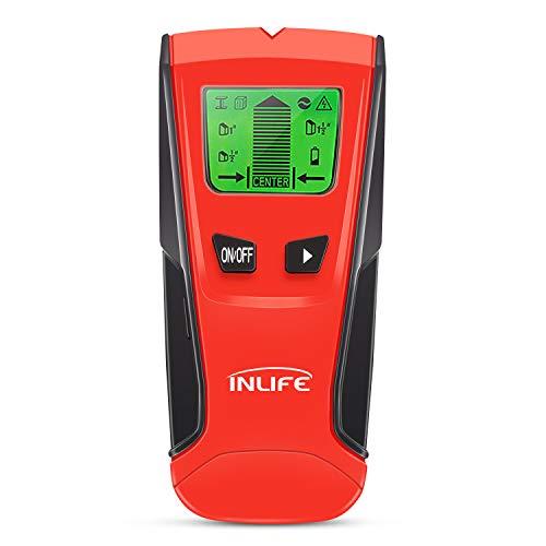 InLife Ortungsgerät Multifunktionaler Wand Scanner Metalldetektor Leitungssucher Stud Finder für Stahl/Kupfer/stromführende Leitungen