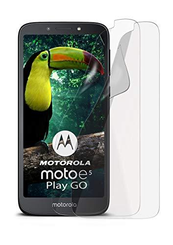 2X Motorola Moto E5 Plus   Schutzfolie Matt Bildschirm Schutz [Anti-Reflex] Screen Protector Fingerprint Handy-Folie Matte Bildschirmschutz-Folie für Motorola Moto E5 Plus Bildschirmfolie