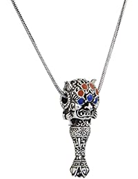 Sansar India Oxidised Egyptian Unisex Chain Pendant Necklace For Men And Women