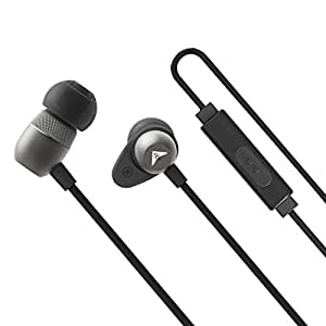 Back to school gift - In ear canal Earphones with Microphone, Noise Isolating, Tangle-free Cable, Mini Metal Headphones with Pure Sound and Powerful Bass for iPhone iPad Samsung Rokerworld R1
